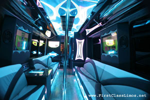 28 - 30 passenger party bus