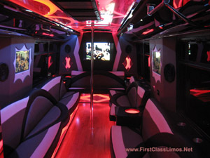 26 - 28 passenger party bus