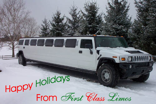 Happy Holidays from First Class Limos