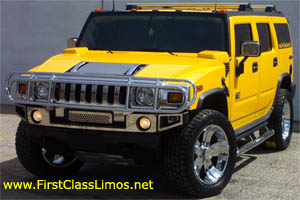 Yellow Hummer H2 Small
